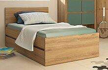 Bett Kinderbett ausziehbar 1703 90x200cm wildeiche