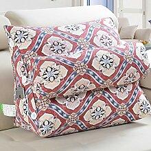 Bett Kissen/ Kissen Sofakissen/ Büro der Lenden/Rückenpolster/Dreieckigen Kissen auf dem Bett/ Gürtel Kissen-S 45x50cm(18x20inch)