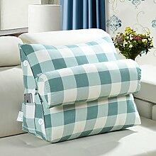 Bett Kissen/ Kissen Sofakissen/ Büro der Lenden/Rückenpolster/Dreieckigen Kissen auf dem Bett/ Gürtel Kissen-B 45x50cm(18x20inch)