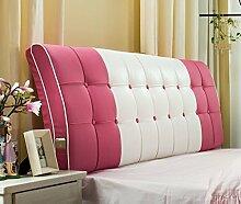 Bett Kissen Soft-Paket Massivholz Bett großes Rückenlehne Kissen doppelt Bett Haube Leder Stoff ( Farbe : # 1 )