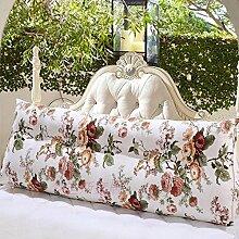 Bett kissen Triangle big kissen Schlafzimmer Doppelzimmer] Tatami große rückenlehne Sofa taille unterstützung Kissen-J 100x50x20cm(39x20x8)