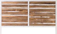 Bett-Kopfteil Holz  Metall Weiß 170 x 100 cm