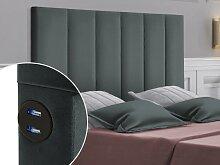 Bett-Kopfteil mit USB-Anschlüssen INGA - 140 cm -