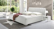 Bett Lewdown Polsterbett  180x200 cm weiß