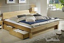 Bett mit Bettkästen 'Finn' 180x200cm Wildeiche massiv