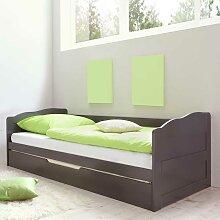 Bett mit Gästebett Grau