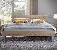 Bett mit geteiltem Kopfteil Sonoma Eiche