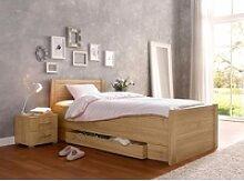 Bett, mit Komforthöhe braun 100 cm x 208 cm x 85
