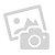 Bett mit Polsterkopfteil in Weiß Eiche Trüffel