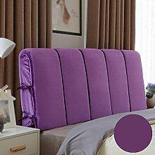 Bett mit Rückenlehne / Nachttisch weiche Rückenlehne / geometrische Nachttischkissen / Sofakissen bequem ( Farbe : A , größe : 180*60cm )