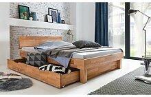 Bett mit Schublade 180x200 Kernbuche massiv Celine