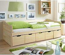 Bett mit Schubladen Kiefer