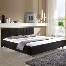 Bett mit Stoffbezug modern