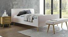 Bett Nelka Polsterbett  90x200 cm beige
