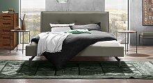 Bett Nocan Polsterbett  200x200 cm grau Doppelbett