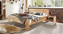 Bett Nudo Massivholzbett stabil 200x200 cm Zirbe