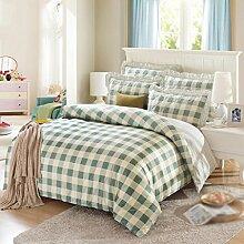 Bett Rock, Bettdecke, Baumwolle, vierteilig, 1.2m1.5 / 1.8m Bett Betten (1 Bettwäsche + 1 + 2 Quilt Kissen-) , #4 , 1.5m