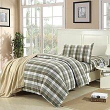 Bett setzt dreiteiliges Bett nur drei stück leinen quilt betten 1,2 m bett (quilt bogen * 1 * 1 * 1 kissenbezug) Kissenbezüge Bettlaken ( farbe : # 4 )