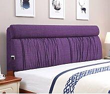Bett stoff soft bag Polsterung aus dem bett Zurück Bett tatami leinenkissen-G 185x60cm(73x24inch)