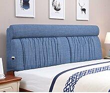 Bett stoff soft bag Polsterung aus dem bett Zurück Bett tatami leinenkissen-E 160x60cm(63x24inch)