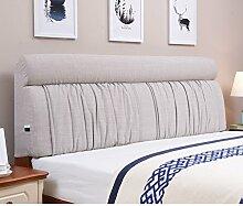Bett stoff soft bag Polsterung aus dem bett Zurück Bett tatami leinenkissen-F 185x60cm(73x24inch)