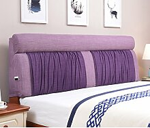 Bett stoff soft bag Polsterung aus dem bett Zurück Bett tatami leinenkissen-C 185x60cm(73x24inch)