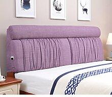 Bett stoff soft bag Polsterung aus dem bett Zurück Bett tatami leinenkissen-J 120x60cm(47x24inch)