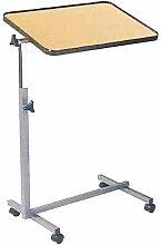 Bett-Tisch, höhenverstellbar, fahrbar, in Buche