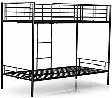 Bett Twinny Etagenbett schwarz 190 X 90