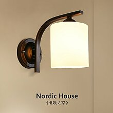 Bett wand Lampe_Nordic Bettseite kreative Korridor led Wandleuchte amerikanische Persönlichkeit Wohnzimmer hotel Hotel
