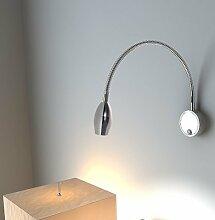 Bett Zimmer Licht, LED Schlauch Light Leselampe Lampe Aluminium Wand Lampen Lampe 3W Schlafzimmer Spiegel