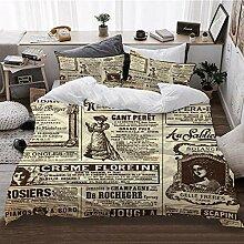 Bettbezüge, Müll Papier auf antike Karte von