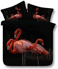 Bettbezug 3D Flamingo Bedruckte Bettwäsche