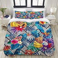 Bettbezug, Ananas Tropische Pflanze Ananas