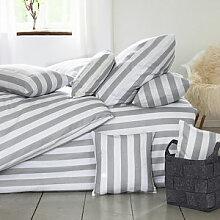 Bettbezug: Hochwertige Halbleinen-Bettwäsche mit