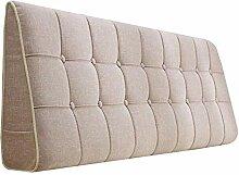 Bettbezug mit / ohne Kopfteil 90 cm Beige mit