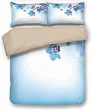 Bettbezug-Set, Blumendekor, Orchideen asiatische