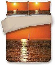 Bettbezug-Set, Segelboot nautisch Dekor, kleine