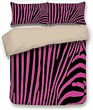 Bettbezug-Set, Zebra-Print, Zebra-Muster drucken