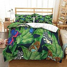 Bettbezug Sets - Trendige Pflanze Schmetterling