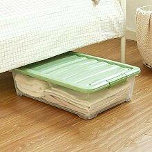 Bettboden Aufbewahrungsbox transparent flach