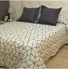 Bettdecke Winter Geometrico beige Cama de 90cm