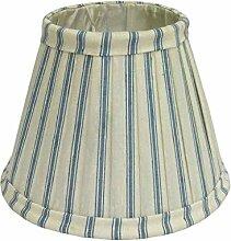Better & Best 0213121–Lampenschirm aus Seide, mit Clip für Kerzenlampen, Tabelle Enge, 12cm, mit blauen Streifen