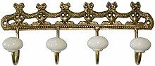 Better & Best 0229597–Kleiderbügel Metall 4Haken aus Keramik, mit Dekoration von Lichterkette mit Brezelständer, Gold