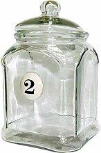 Better & Best 1362090–Große Glasdose mit Nr. 2, mit Deckel