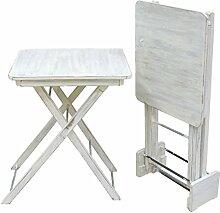Better & Best-Beistelltisch klappbar, Holz, Weiß,