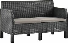 Betterlife - 2-Sitzer Gartensofa mit Kissen