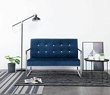 Betterlife - 2-Sitzer-Sofa mit Armlehnen Blau