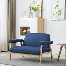 Betterlife - 2-Sitzer-Sofa Stoff Blau1524-A