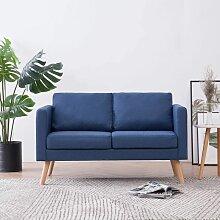 Betterlife - 2-Sitzer-Sofa Stoff Blau1853-A